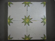 4 antike ornament Fliesen farbige Eckpfeiler Kachel Tegel Dutch Tiles 20 Jh
