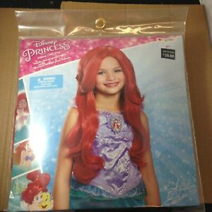 New~ Disney The Little Mermaid Ariel Deluxe Child Costume Red Wavy Wig Disguise