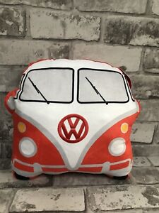 Volkswagen Red Campervan Cushion official licensed NEW gift plush