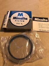 MINOLTA 55MM UV FILTER IN ORIGINAL BOX New Unused