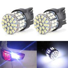 Coche 2x T20 W21W 7443 7440 64-SMD Freno De Cola LED Blanco Bombillas inversa de respaldo