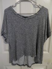 Women's American Eagle Short Sleeve Thin Knit Cropped Sweater Gray Size Medium