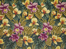 1999 Alexander Henry - Jungle Orchid - Large Print Cotton Fabric 1 1/4 yds