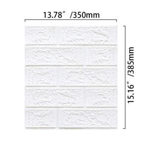 10Pcs 3D Tile Brick Wall Sticker Self-adhesive Waterproof Foam Panel Wallpaper
