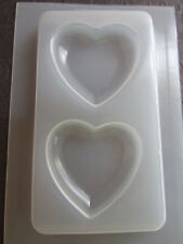 "Resin Mold 2"" 53mm Hearts 2 Count Jewelry Heart Pendant Epoxy Molds Mould"