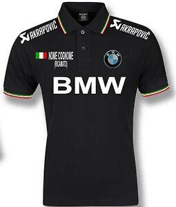 POLO BMW BLACK NERO TRICOLORE T-SHIRT FELPA CAMICIA SCALDACOLLO MOTO AUTO S-XXL