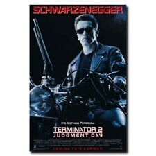 Terminator 2 Judgment Day Arnold Schwarzenegger 12x8inch Movie Silk Poster