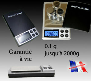 Balance électronique de précision poche 0.1g  à 2000g 0,1g 0,1gr 0.1gr bijoux