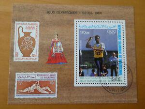 Mauretanien  Olympia  1988 Seoul Mi  Bl. 70  gestempelt