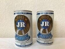 Set 2 JR EWING 12 OZ ALUMINUM PULL TAB BEER CAN Dallas Vintage TV Collectible