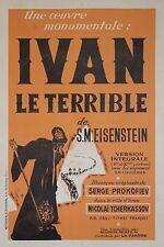 """""""IVAN LE TERRIBLE"""" Affiche ressortie entoilée (S.M. EISENSTEIN)"""