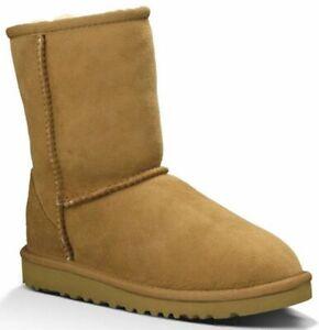 UGG Australia Classic Sheepskin Girls Boots Chestnut - Size 11 - 5251Y