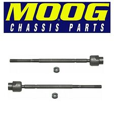 For Buick Cadillac Chevy Pair Set of 2 Front Inner Steering Tie Rod Ends Moog