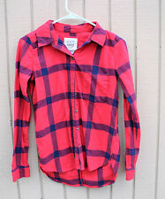 SO PERFECT SHIRT FLANNEL JUNIORS TOP SIZE XSM