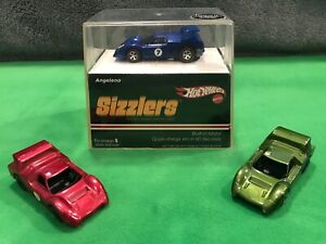 2006 Hot Wheels Sizzlers Angeleno, NIB with 2 original Angeleno M-70 part cars!