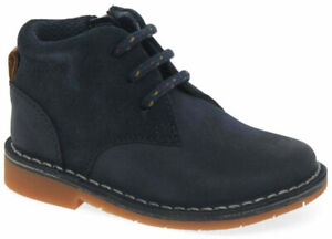 CLARKS COMET RADAR Boys Navy Leather Ankle Boots UK 5 - UK 10 FG Fit NEW BOXED