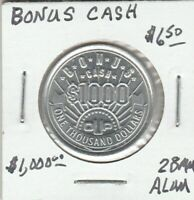 (Y) Token - Bonus Cash - $1000 - 28 MM Aluminum