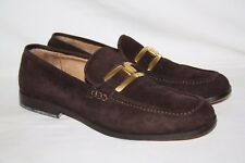 Ann Taylor Women's Dark Brown Suede Leather Loafers Shoes 'America' Size 7M (A50
