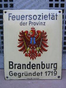 FEUERSOZIETÄT der PROVINZ BRANDENBURG gegr. 1719 EMAILSCHILD