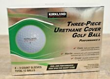 Kirkland Signature Three-Piece Urethane Cover Golf Balls 1 Dozen NEW