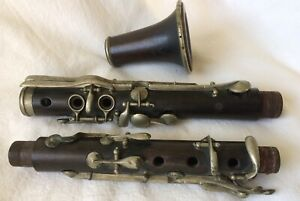 "Civil War ""R Wurlitzer & Bro"" Simple Albert System Wood Clarinet Cincinnati O"
