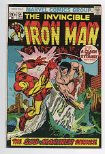 MARVEL COMICS  IRON MAN 54  1973 SUB-MARINER   1ST APP  MOONDRAGON