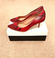 Kurt Geiger London Tiarella Red Snake Print Heel Court Shoes Size 5 38 RRP £199