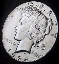 1928- PEACE DOLLAR - BETTER DATE PEACE - LOW MINTAGE - RARE IN THIS CONDITION!