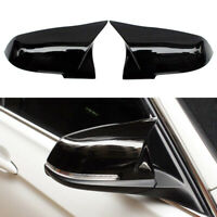 Pair Gloss Black M3 Style Mirror Cover Caps For BMW F20 F21 F22 F30 F32 F36 M2