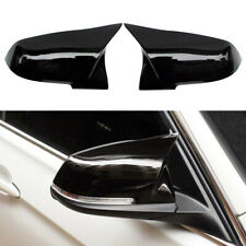 Pair Gloss Black M3 Style Mirror Cover Caps For BMW F20 F21 F30 F32 F36 M2