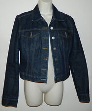 Women Fcuk Jeans French Connection Casual Long Sleeve Dark Blue Jacket Size M