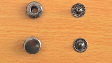 Boutons pression 50 sets 12mm métal noir charcoal boutons pression anorak
