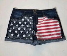 Justice Shorts Size 20 Plus sequin flag shorts