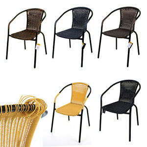 WICKER BISTRO CHAIRS RATTAN OUTDOOR PATIO GARDEN DAMAGED DEFECT FAULTY CLEARANCE
