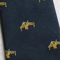 Vintage Tie MENS Necktie Crested Club AEROPLANE HARRIER JET BOMBER PILOT