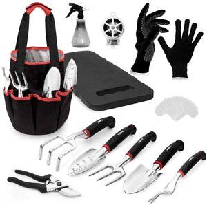 OARA 21PCS Garden Tools Set Heavy Duty Aluminum Hand Tool with Garden Gloves and