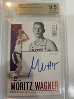 MORITZ WAGNER 2018-19 ENCASED RED ROOKIE SCRIPTED SIGNATURES /25 AUTO BGS 9.5