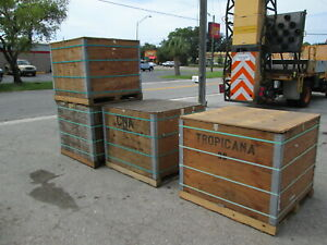 Shipping or Storage containers, boxes, wood crates (heavy-duty)
