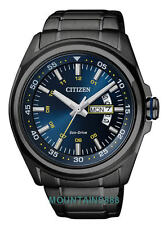 CITIZEN Eco-Drive Watch, WR100, Date/Day, Low Charge Indicator, Mens, AW0024-58L