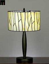 "12"" Tiffany Geometric Stained Glass Bedside Side Table Desk Lamp Light Leadlight"
