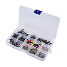 Sea Fishing Rig Set.Makes 50 + Rigs,Beads/Swivels/Crimps/Hooks + a free box FT