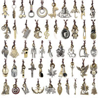 Vintage Men Women Leather Punk Necklace Pendant Choker Chain Charm Jewelry Gift