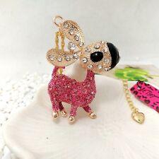 Betsey Johnson Pink Donkey Pendants chain Sweater chain long necklace Cc256