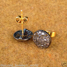 Antique Finished 0.95cts Rose Cut Diamond Silver Amazingly Studs Earring Jewelry