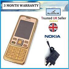 Neuf Nokia Mobile téléphones classique 6300 or débloqué caméra facile à utiliser