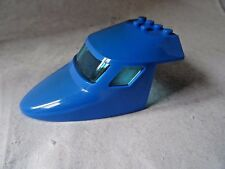 LEGO PART 87613 BLUE AIRCRAFT FUSELAGE CURVED FORWARD WITH PERSPEX