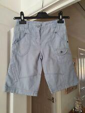 Boy's Next Pale Blue Combat Shorts, Linen Blend, Age 7 Years, 122 cms, VGC