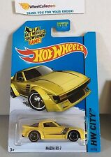 Mazda RX-7 #21 * Yellow * 2014 Hot Wheels * H15