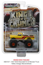 Greenlight Chevrolet K-10 Monster Truck Amarillo con Rayas 1972 49010 1/64