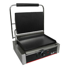 Panini Press Grooved / Flat Ribbed Catering  Contact Grill  FREE Drip Tray 2.2Kw